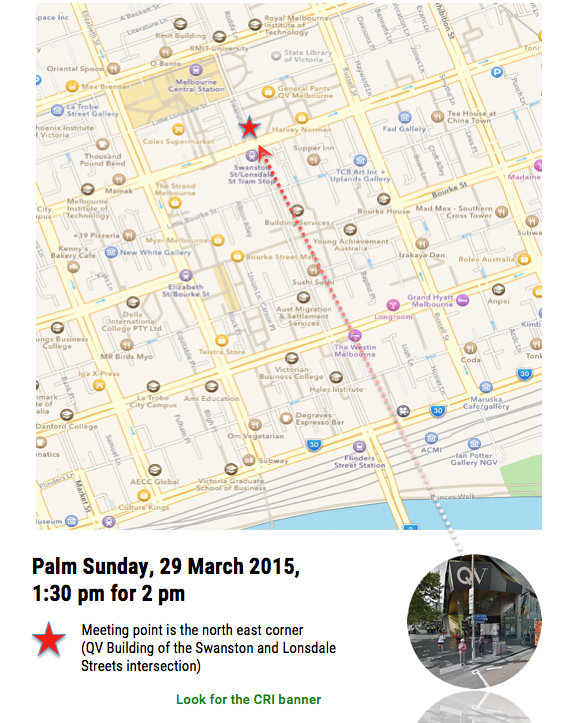 Walk for Justice, Palm Sunday, 29 March, 2 pm